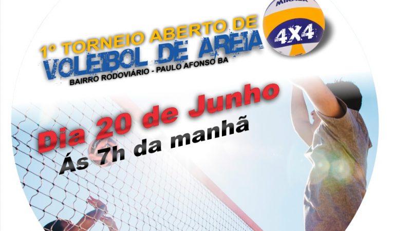 Acontece nesse momento o Torneio de Vôlei 4 x 4 no bairro Rodoviário