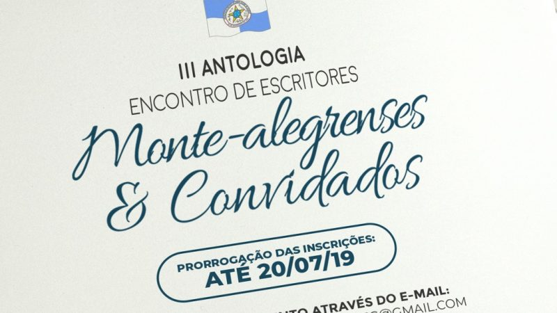 O 3º Encontro de Escritores Monte-alegrenses e Convidados prorroga inscrições
