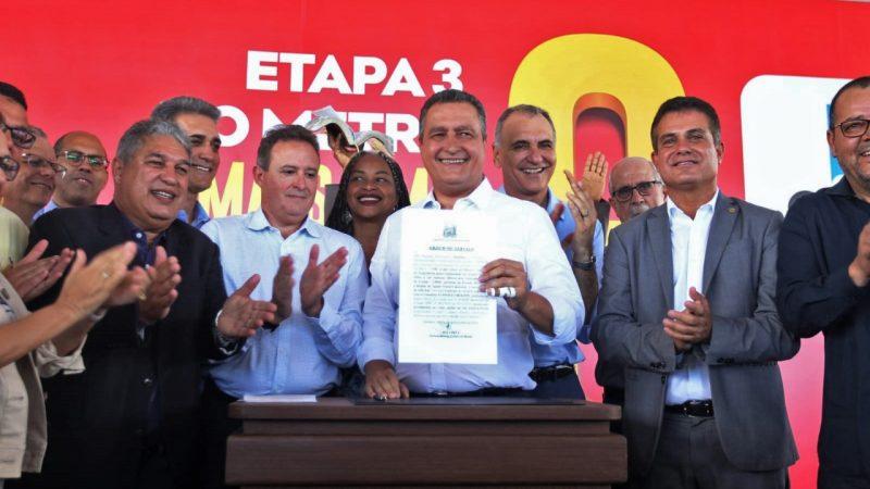 Rui autoriza ampliação do metrô até Cajazeiras/Águas Claras