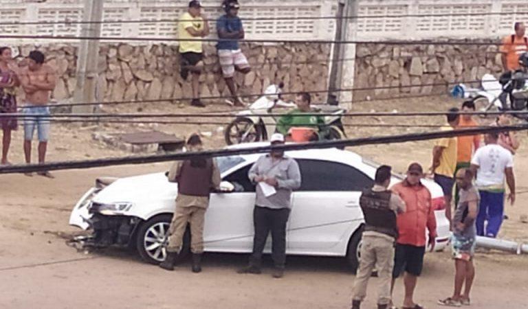Acidente de trânsito deixa moradora do bairro Siriema gravemente ferida