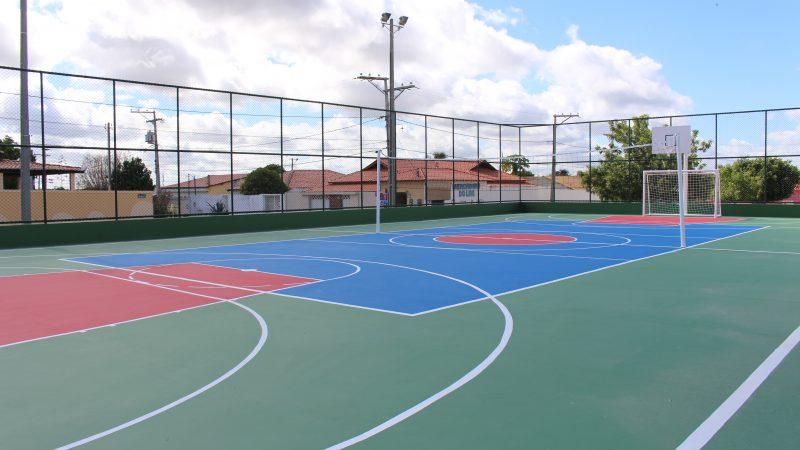 Construção e requalificação de quadras esportivas oferta oportunidade para comunidades
