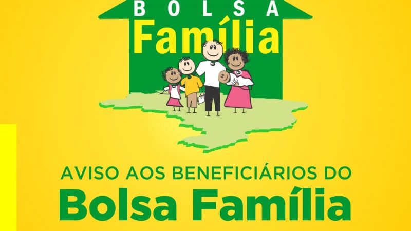 Programa Bolsa Família alerta beneficiários sobre recebimento de parcela referente a novembro de 2019