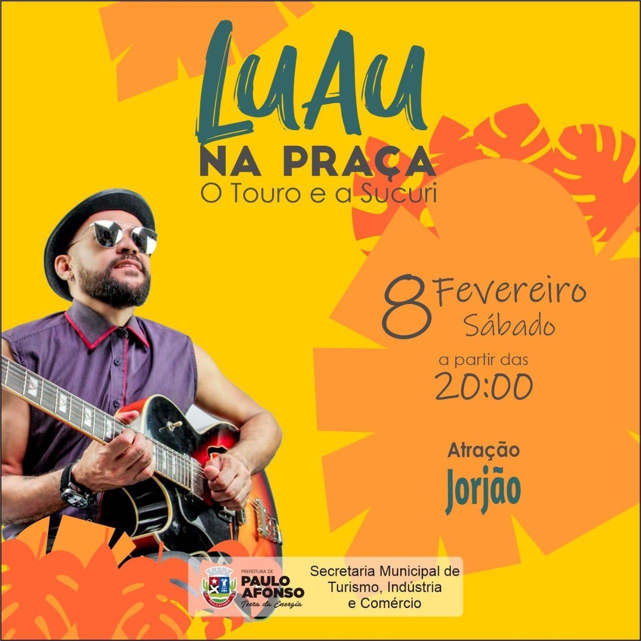 Jorgão Lima é atração do Luau na Praça deste sábado (8)