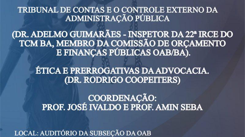 Seminário Diálogos Jurídicos OAB/UNEB