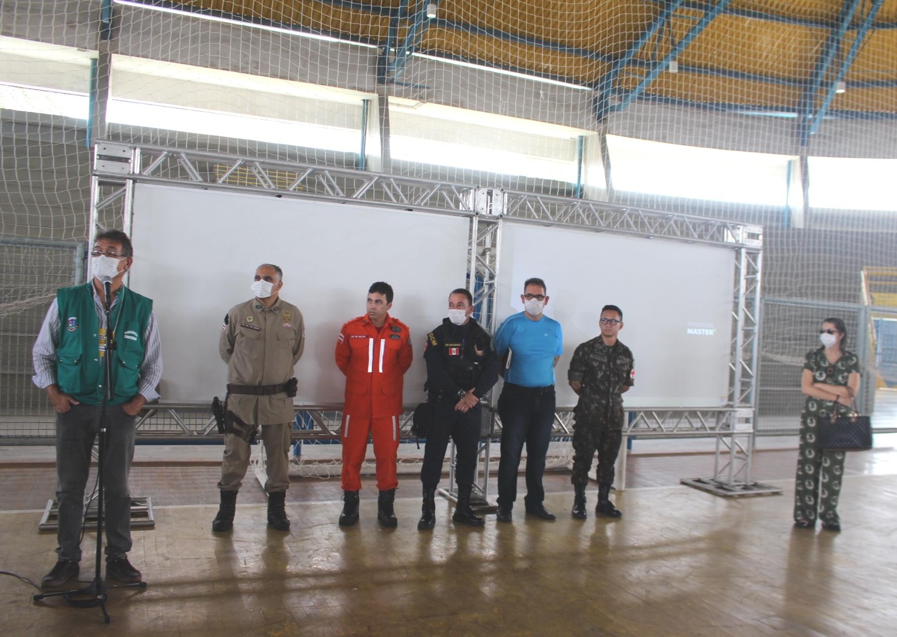 Sistema de Comando de Incidente (SCI) inicia atividades no Ginásio Luís Eduardo