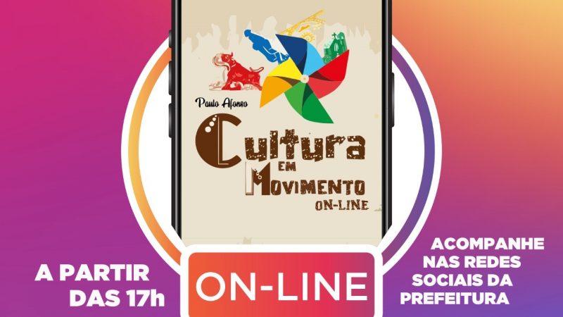 Apresentações do Cultura em Movimento On-line começam nesta quarta (8)
