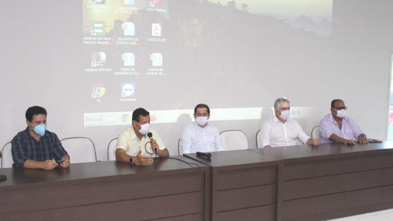 Prefeitos e secretários de Saúde do CIRSP se reúnem para discutir ações de combate ao Covid-19