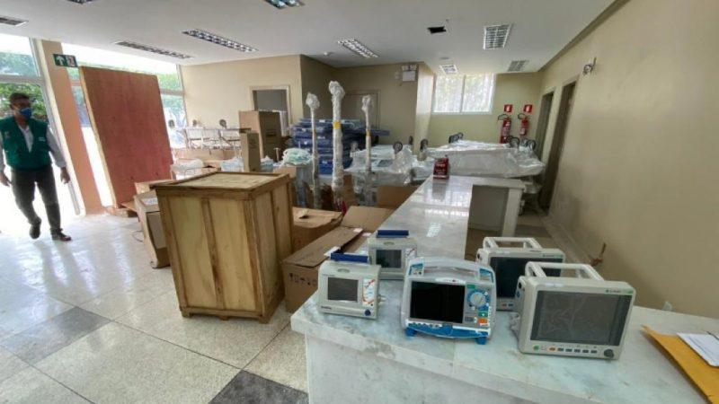 Equipamentos para o tratamento de futuros pacientes com Covid-19 chegam às instalações da UPA