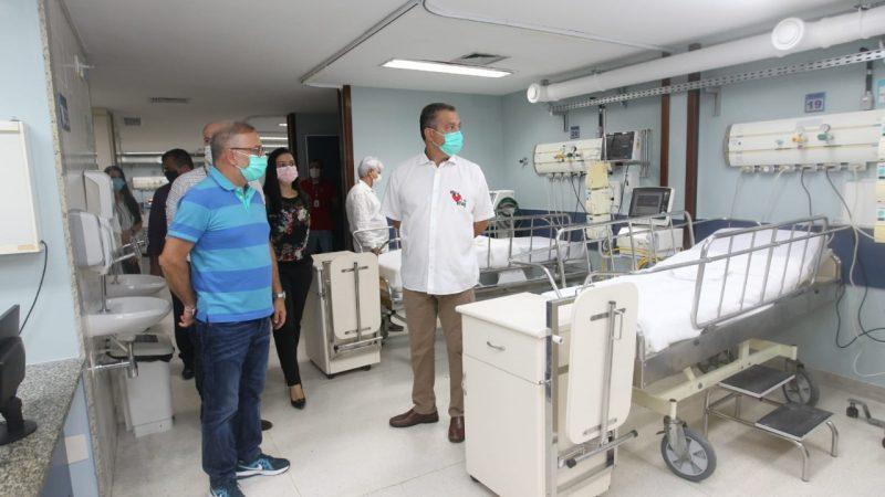 Governador Rui Costa faz última vistoria antes da reabertura do Hospital Espanhol