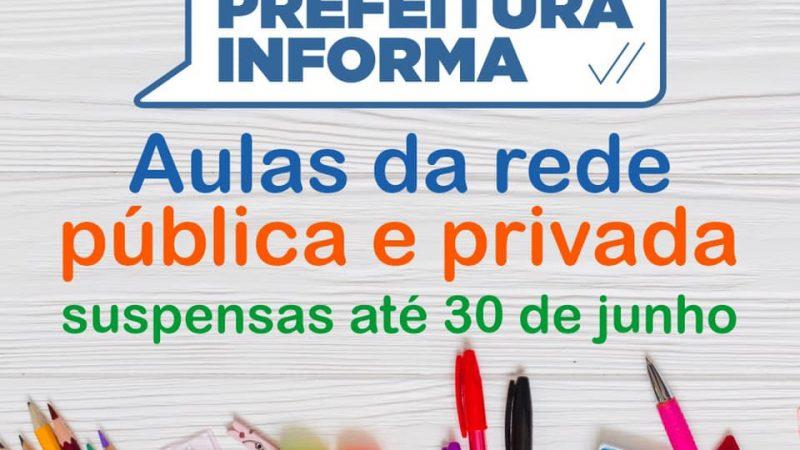 Prefeitura de Paulo Afonso prorroga suspensão das aulas até o dia 30 de junho