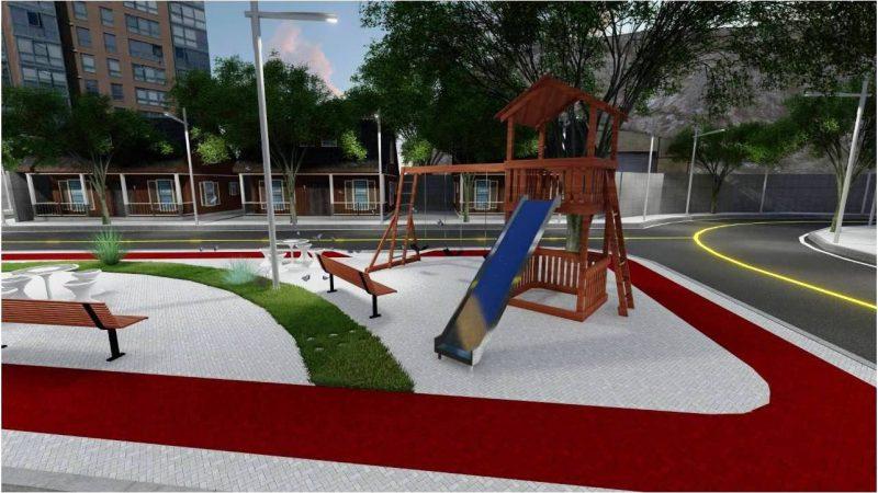 Bairro Santa Inês é beneficiado com praça, asfalto e limpeza de ruas