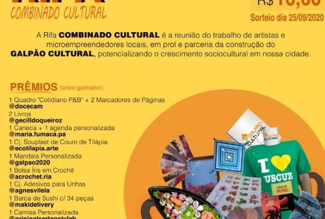 Projeto Galpão Cultural realiza a Rifa Combinado Cultural