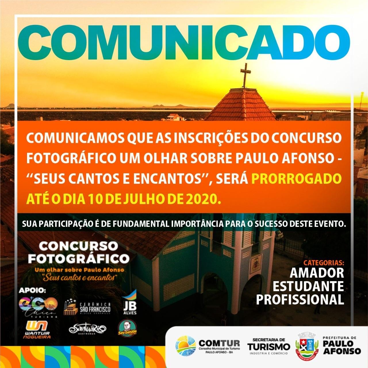 Concurso fotográfico da Secretaria de Turismo (SETIC) tem inscrições prorrogadas até 10 de julho