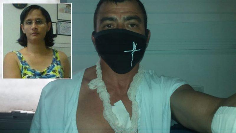 Homem baleado que teve esposa assassinada diz que um dos tiros atravessou tórax e passou a um milímetro da aorta