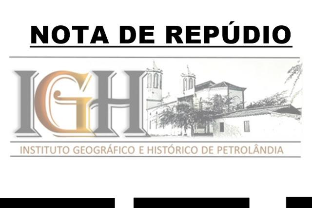 IGH – Instituto Histórico e Geográfico de Petrolândia repudia uso de igreja submersa em gravação de DJ