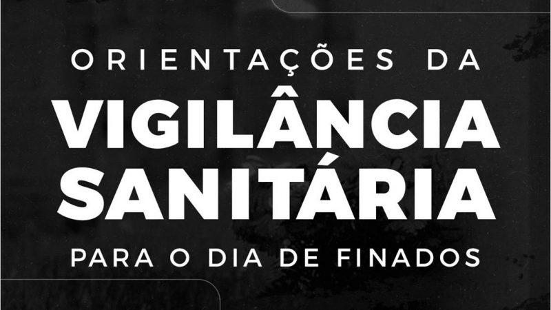 Vigilância Sanitária divulga orientações sobre visitas aos cemitérios no Dia de Finados para evitar contágio pelo novo corona vírus