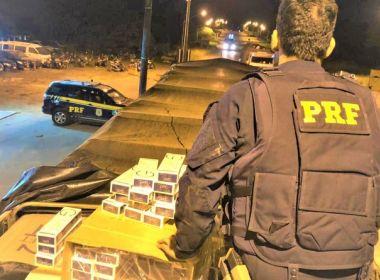 PRF apreende 300 mil maços de cigarros contrabandeados do Paraguai