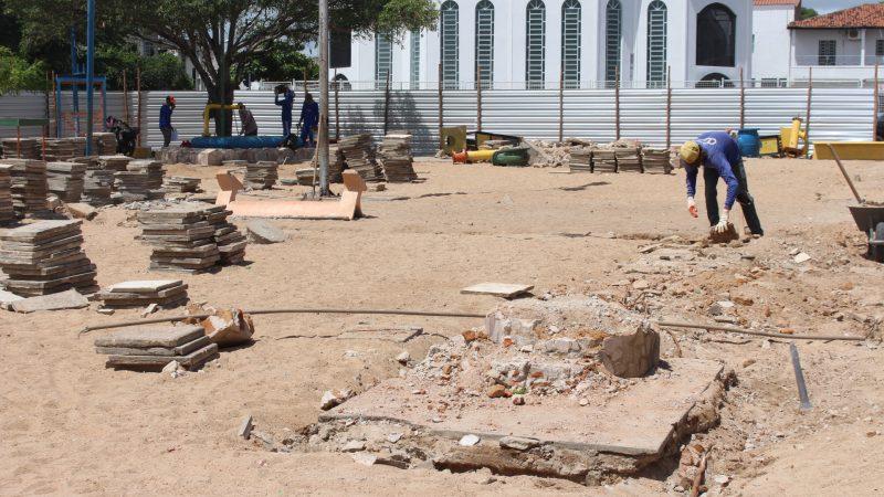 Praça das Crianças, localizada na marechal Rondon, está sendo totalmente requalificada