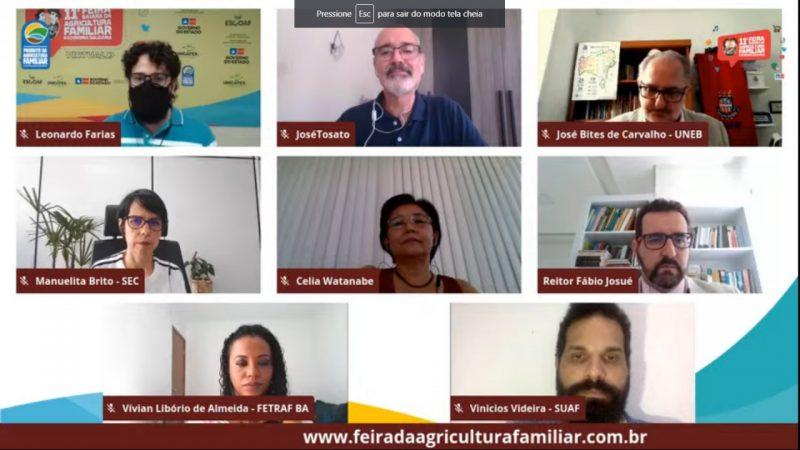 II Seminário virtual de Formação em Extensão Rural é realizado na Feira Baiana da Agricultura Familiar