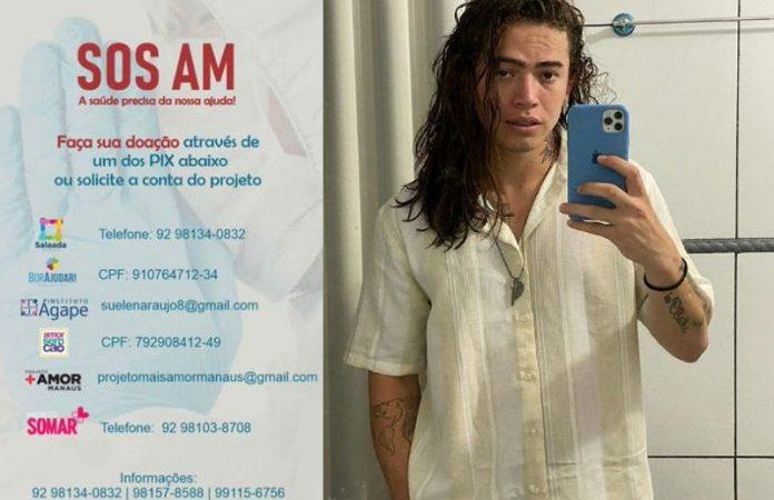 Whindersson faz campanha para ajudar Manaus a receber oxigênio