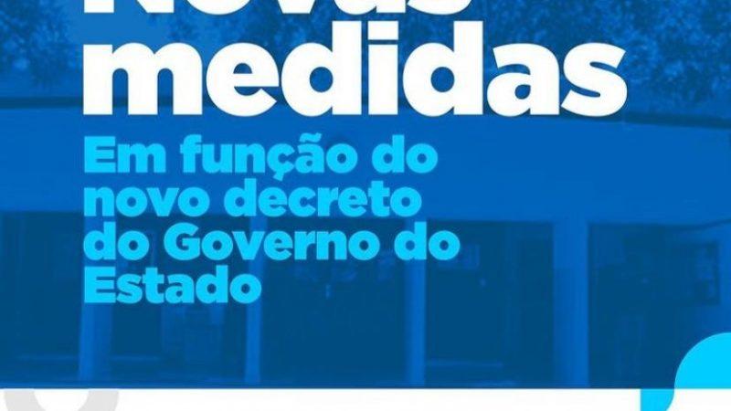 Município adere a decreto do Governo do Estado com novas medidas restritivas