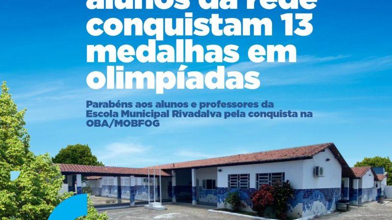 Escola Rivadalva de Carvalho conquista 13 medalhas na OBA e MOBFOG