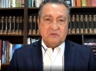 O governador Rui Costa chora ao falar  do agravamento da pandemia na Bahia